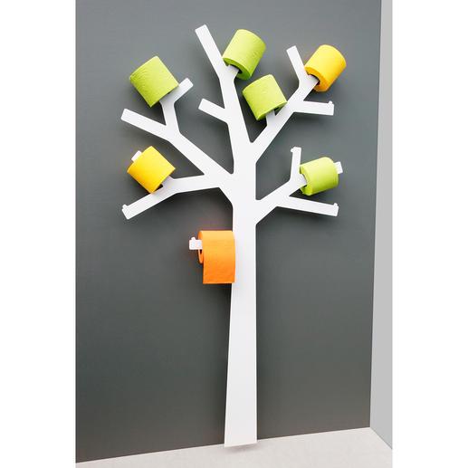 WC-Rollen-Baum - Wandskulptur? Deko-Objekt? Der WC-Papierhalter mit erstaunlich vielen Talenten.