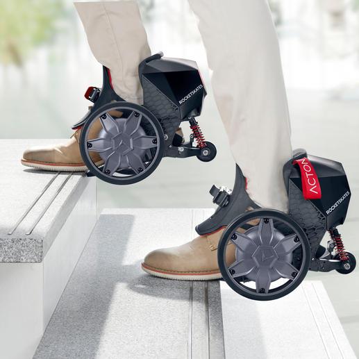 Praktisch beim Treppensteigen: Da die Fußspitzen frei bleiben, ist auch normales Laufen möglich.