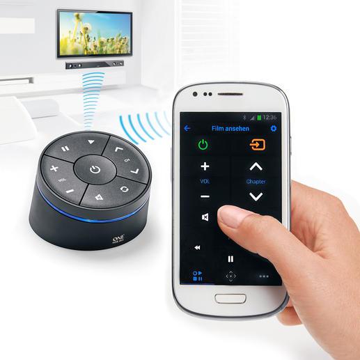 Neueste Multimedia-Geräten werden per Bluetooth gesteuert. Bei älteren TVs wandelt der Smart Zapper die Steuer-Befehle einfach in Infrarot-Signale um.