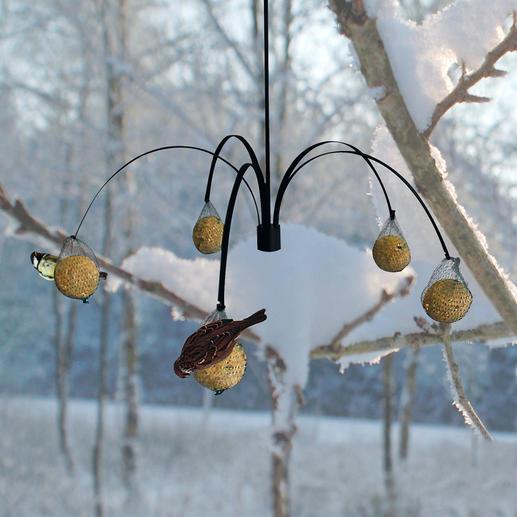 Vogelfutter Palme - Ihr neues Vogel-Restaurant hat gleich 5 Tische. Dekorativer Blickfang und geselliger Treffpunkt.
