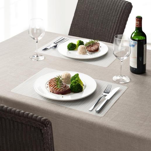 Silikon-Tischset, 4er-Set - Schick. Fleckabweisend. Und hitzefest bis 200 °C (!). Formstabil und sogar spülmaschinenfest.