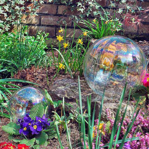 Seifenblasen-Kugel - Prachtvolle Seifenblasen für die Ewigkeit – aus irisierendem Glas.