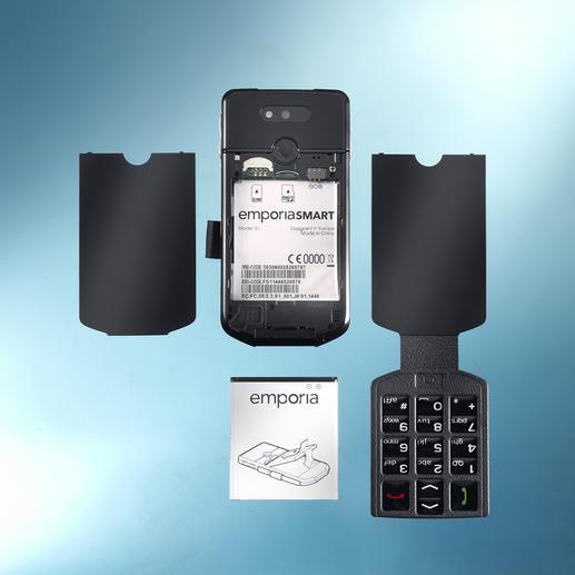 Zwei Gehäusedeckel werden mitgeliefert: herkömmliche Rückseite und Rückseite mit physischer Tastatur.