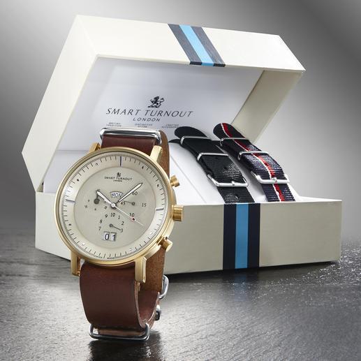 """Smart Turnout Herren-Armbanduhr """"Style-Change"""" - Eine Uhr - 3 verschiedene Looks. Perfekt passend für jeden Anlass und jedes Outfit."""