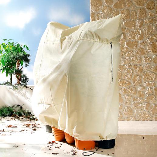 Mit den größeren Pflanzen-Säcken können Sie leicht auch mehrere Kronen schützen.