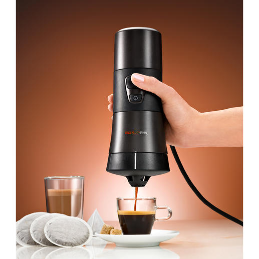handcoffee mobile kaffeemaschine für kaffepads 12 volt  ~ Kaffeemaschine Zigarettenanzünder