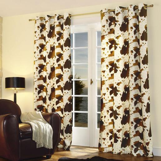 Vorhang Cow - 1 Stück Nur die besten Wirkfelle sind fein genug für einen weich fallenden Vorhang.