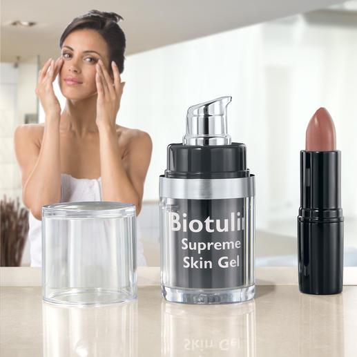 Biotulin Supreme Skin Gel Serum Das Beautygeheimnis vieler Stars und Celebrities. In deutschen und amerikanischen Glamour-Magazinen gefeiert.