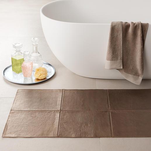 Leder-Teppich - Seltener Luxus: Die extravaganten Teppiche aus softem Rindleder. Manufakturarbeit made in Germany.