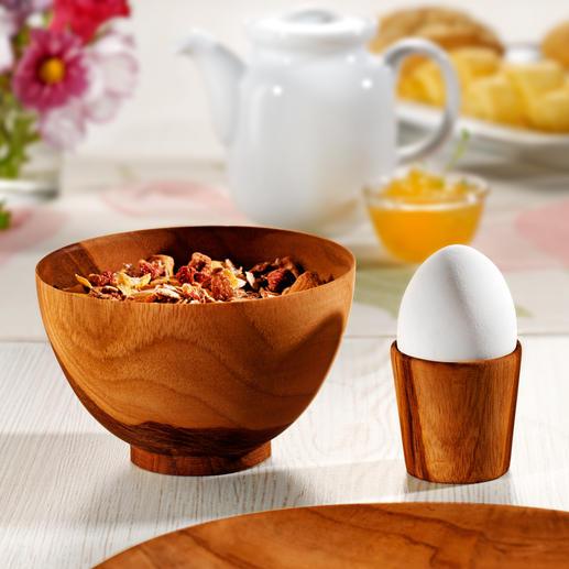 Mit den passenden Müslischalen und Eierbechern decken Sie Ihren Frühstückstisch besonders stilsicher.
