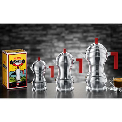 """Den Design-Espressokocher """"Pulcina"""" gibt es in 3 Größen."""