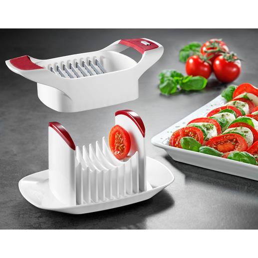 Zyliss® Tomaten-/Capreseschneider - Genial einfach und schnell: akkurate Scheiben von Tomaten, Mozzarella, Eiern, ...