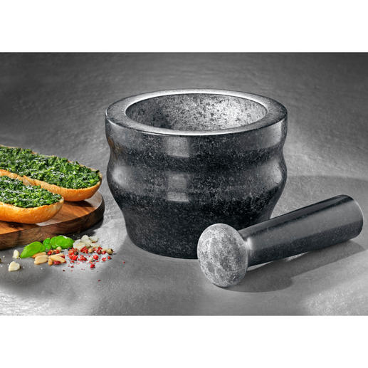 Cole & Mason Granitmörser - Gewürze schnell und besonders aromaschonend zerkleinern. Im Profi-Mörser aus massivem Granit.