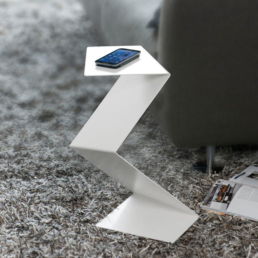 """""""Geknickter"""" Diener - Zugleich Skulptur, Piedestal und Beistelltisch – in außergewöhnlichem Design."""