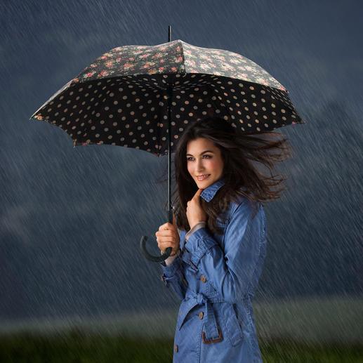 Bloomsbury Regenschirm - Britisch stilvoller Mustermix: der Schirm mit innen ausgekleideter Kuppel.