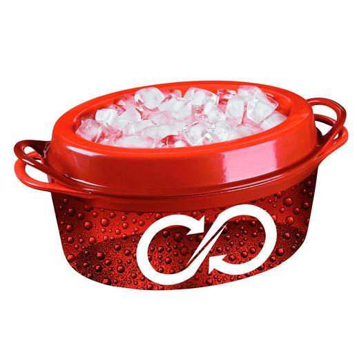 Im Deckel integrierte Noppen lassen den kondensierten Dampf stetig und gleichmäßig auf die Speisen zurücktropfen.