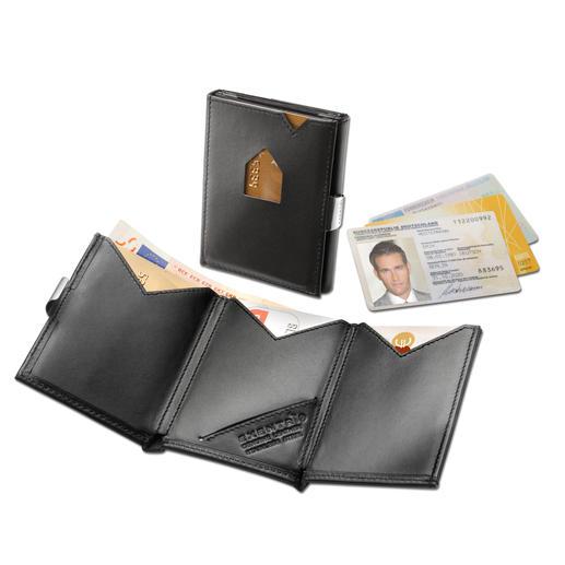 Exentri® Smart Wallet - Das Karten-Etui mit 2fach-Schnellzugriff. Ohne Öffnen, die beiden meist genutzten Karten direkt zur Hand.