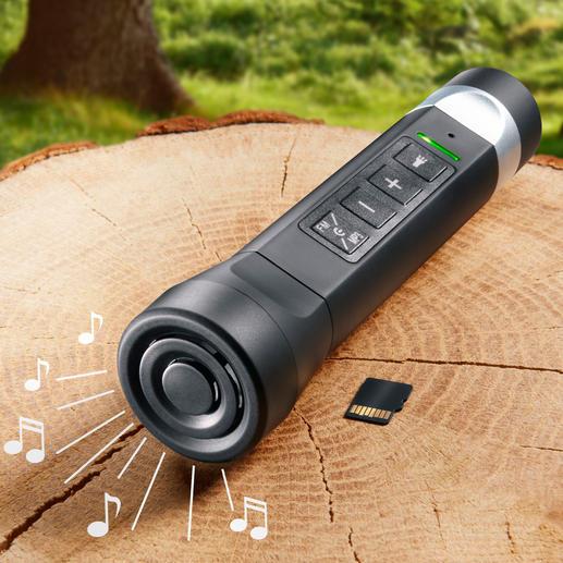Mit diesem Elektro-Multitool haben Sie einen Speaker für Ihre MP3-Songs dabei.