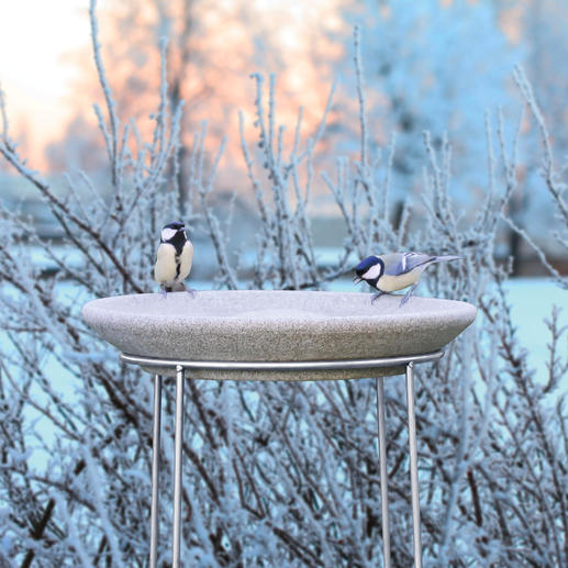Ihre Granicium®-Vogeltränke ist frostbeständig bis  50 °C.