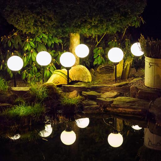 Tauchen Sie Ihren Garten mit den Kugelleuchten in ein stimmungsvolles Ambiente.