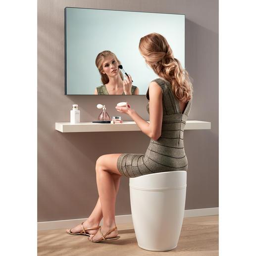 Perfekt für das Badezimmer: Als Wäschesammler aber auch als Hocker geeignet.