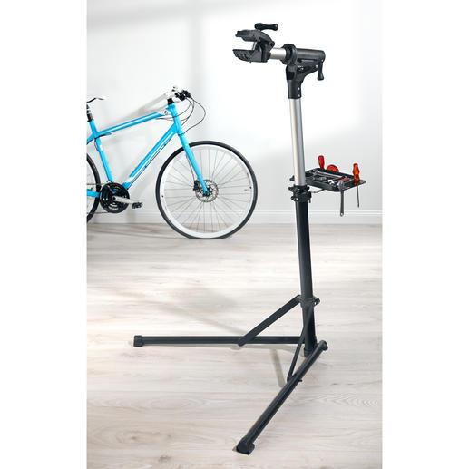 Klappbarer Fahrrad-Montageständer - Jetzt warten, reinigen und reparieren Sie Ihr Bike einfach und bequem: Stufenlos höhenverstellbar und 360° schwenkbar.