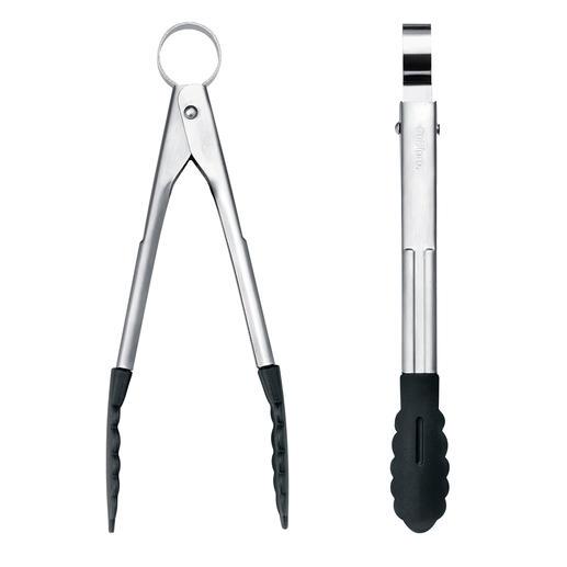 US-patentierter Einhand-Mechanismus. Ein kurzer Druck auf die Aufhängeöse öffnet die Zange. Zum platzsparenden Verstauen: Öse einfach ziehen – schon ist die Zange arretiert.