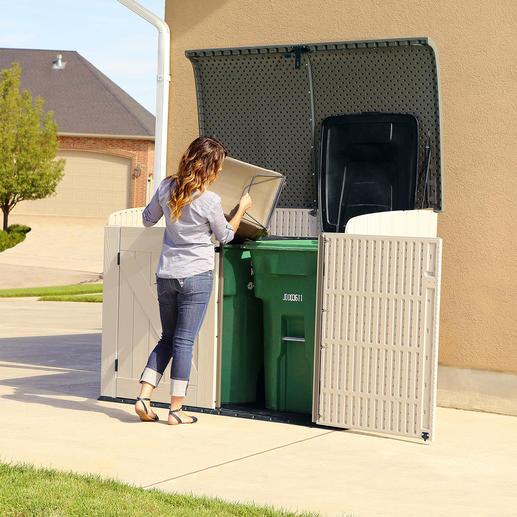 Den Abfall können Sie bequem von oben entsorgen.