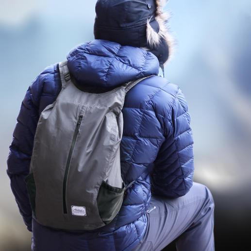Outdoor-Falt-Rucksack - Immer dabei: Der wasserdichte Falt-Rucksack im Taschenformat.