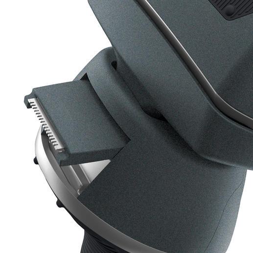 Der Konturentrimmer ist ausfahrbar und sorgt für präzise, saubere Kanten.