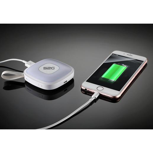 2.000mAh Ladekapazität reichen für eine komplette Smartphone-Ladung, zum Nachladen Ihres E-Readers oder Tablets.