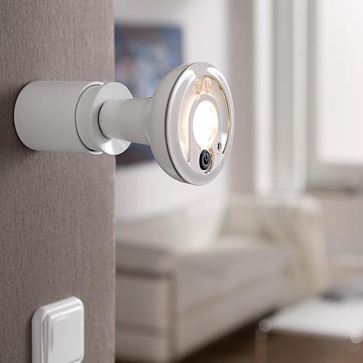 LED-Smartlight mit IP-Kamera - Preisgekrönt: Der LED-Strahler mit Fernüberwachungs-Kamera. Doppelt nützlich. Für innen und außen.