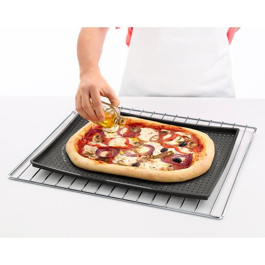 Knusper-Backmatte - Endlich eine Backmatte für wirklich knusprige Böden. Ideal für Pizza, Focaccia, Blechkuchen, ...