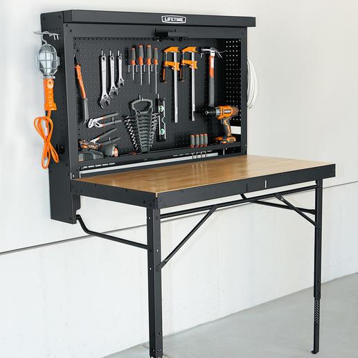 lifetime werkbank klappbar arbeitstisch inkl werkzeugschrank. Black Bedroom Furniture Sets. Home Design Ideas