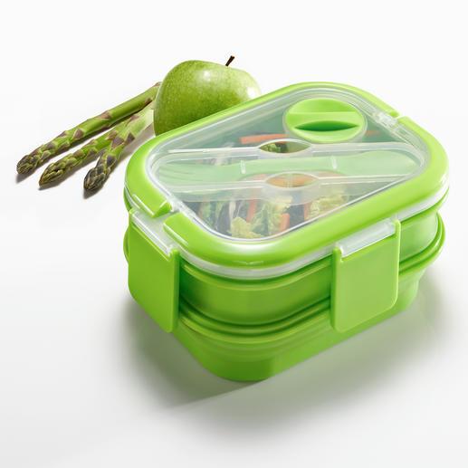 Faltbare Lunch-Box, 3er-Set - Die bessere Lunch-Box: platzsparend faltbar. Dennoch groß genug für eine komplette Mahlzeit.