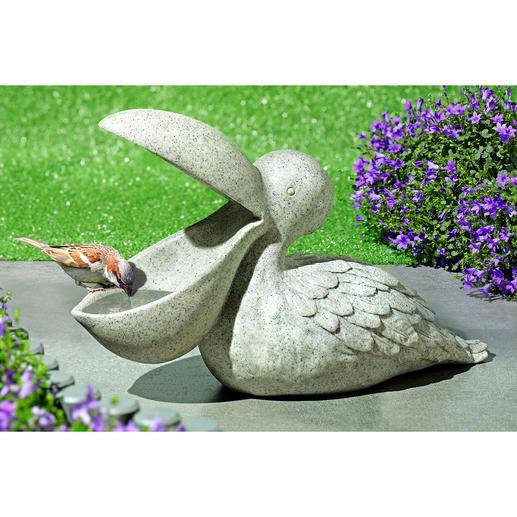 Vogeltränke Pelikan - Außergewöhnliche Gartendeko. Und perfekter Rastplatz für Finken, Meisen & Co.