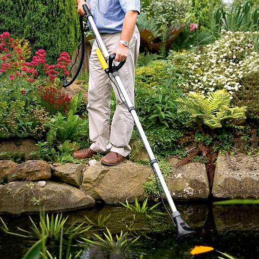 Handteichsauger Pond Vac Der bessere Teichsauger: bis zu 30 % weniger Reinigungszeit. Bis zu 50 % höhere Saugkraft.