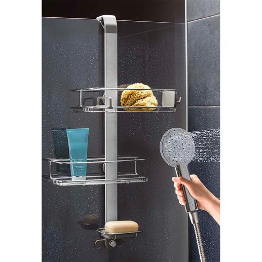 Variabler Duschcaddy Cleveres Design passt sich Ihren Duschutensilien individuell an.
