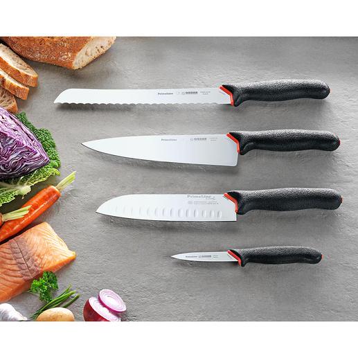 """Giesser Messerserie """"PrimeLine Chef"""" - Scharf, schnitthaltig, präzise, ergonomisch und sicher. Mit antibakterieller Hightech-Ausrüstung. Von Giesser, Winnenden."""