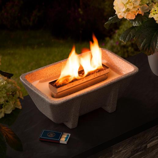 Schmelzfeuer® XL Granicium® Kraftvolles Feuer – sogar aus Kerzenresten. In Deutschland handgefertigtes Granicium®. Ganzjährig outdoortauglich.