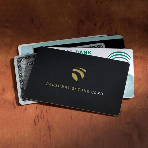 RFID Secure-Card - Die wohl einfachste Art, Ihre Karten vor Datendiebstahl zu schützen.