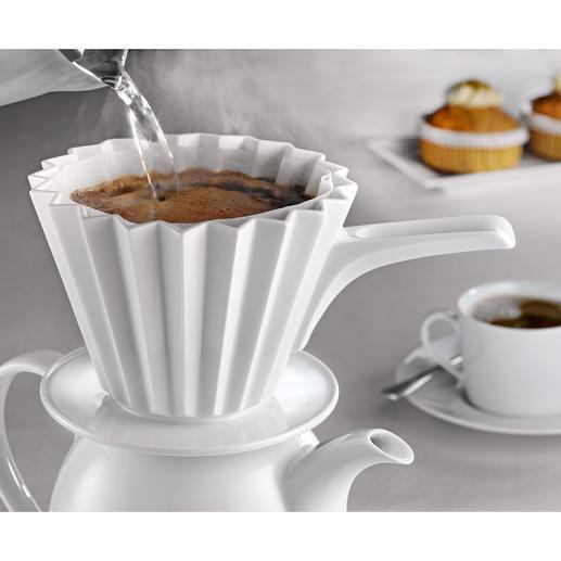 Thermo-Kaffeefilter Weltneuheit: Der doppelwandige Porzellan-Kaffeefilter in mehrfach prämiertem Design.