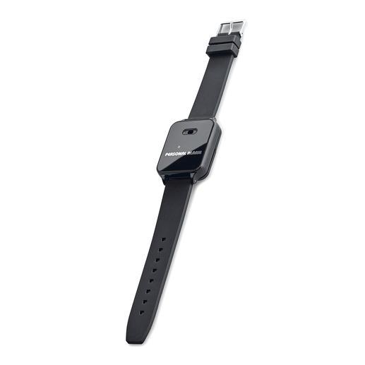 120-Dezibel-Alarmarmband - Die Alarmsirene am Handgelenk: im Notfall mit einem Fingertipp aktiviert.