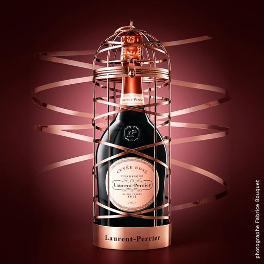 Cuvée Rosé im Käfig, Laurent-Perrier, Champagne, Frankreich Spektakuläres Geschenk. Limitierte Edition. Nur noch wenige Exemplare.
