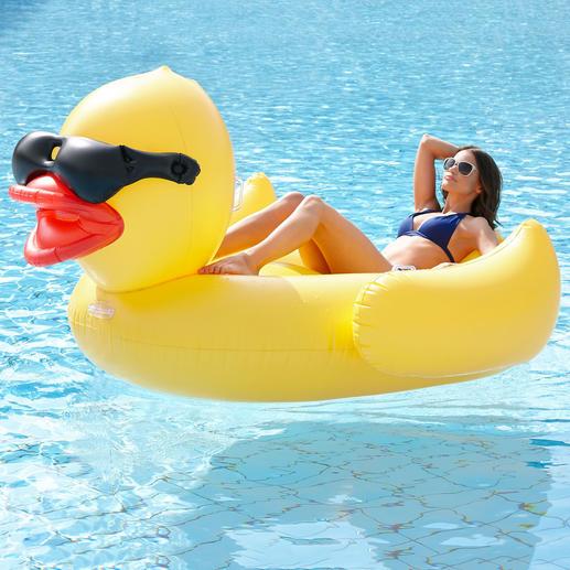 XXL Schwimmente   Mit Stylisher Sonnenbrille Und Platz Genug Für Zwei. Aus  Stabiler,