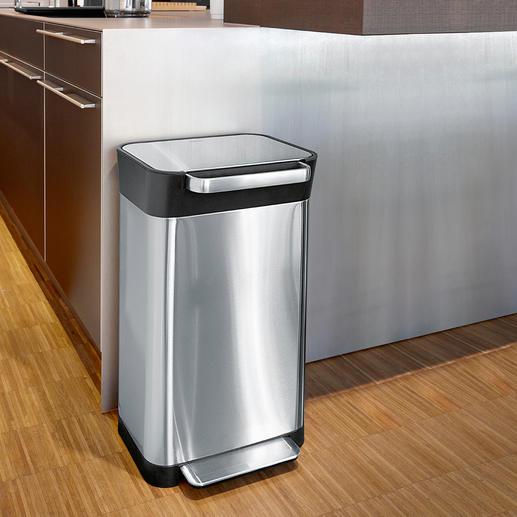 Abfalleimer mit Verdichtungssystem Fasst bis zu 3-mal so viel Haushaltsmüll wie andere mit gleichem Volumen.