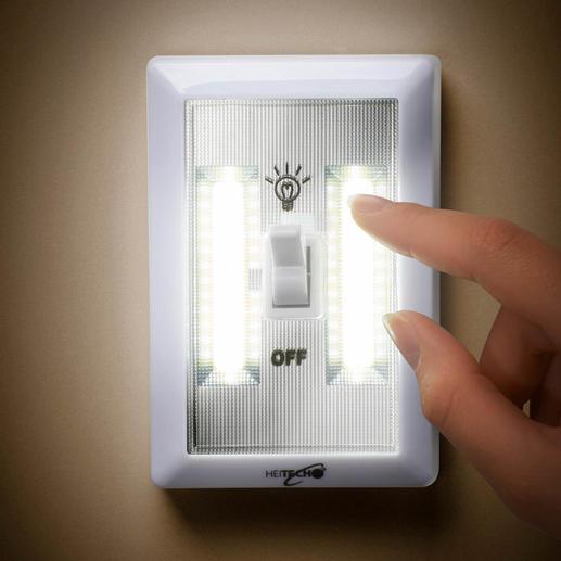 Batteriebetriebenes LED-Wandlicht, 3er-Set - Helle Raumbeleuchtung – einfach wie nie. 200 Lumen Lichtstrom: ohne Verkabelung, ohne Montage, ohne Stromanschluss.