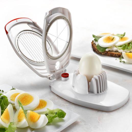 Zyliss® Duo-Eierschneider Mit nur einem Gerät: Feine Eier-Scheiben oder dekorative Eier–Spalten.