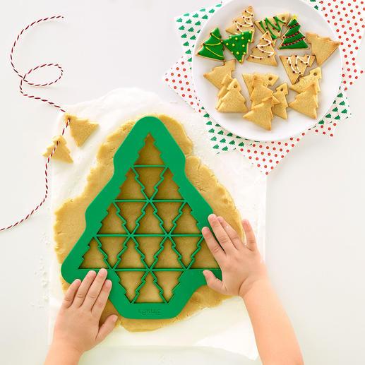 Ausstech-Schablonen, 3er-Set (Tannenbaum, Herz, Schneeflocke) Mit einer Ausstechform: bis zu 19 (!) perfekt geformte Kekse zugleich. In unterschiedlichen Formen und Größen.