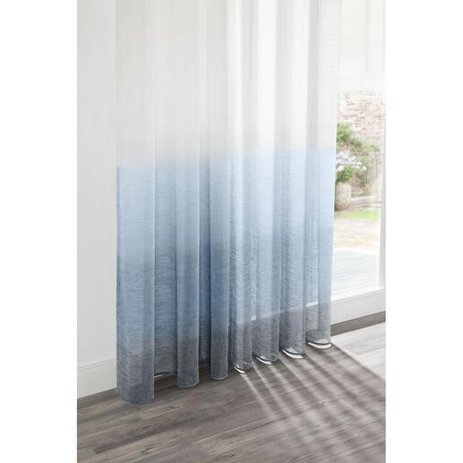 Vorhang Duo - 1 Stück Angesagter Ombré-Effekt – als zarter Nadelstreifen gewebt.
